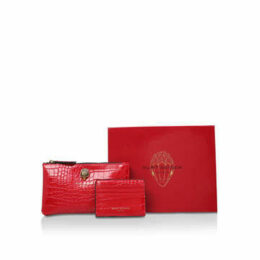 Kurt Geiger London Pouch Red Pouch Gift Set