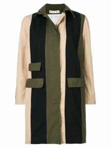 Marni military colour blocked trench - Green