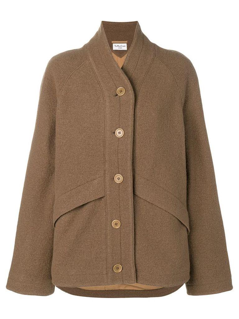 YMC oversized single breasted jacket - Brown