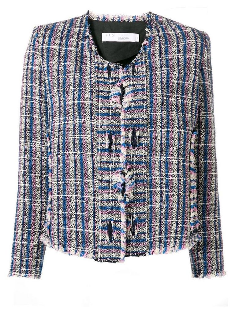 Iro knitted style structured jacket - Blue