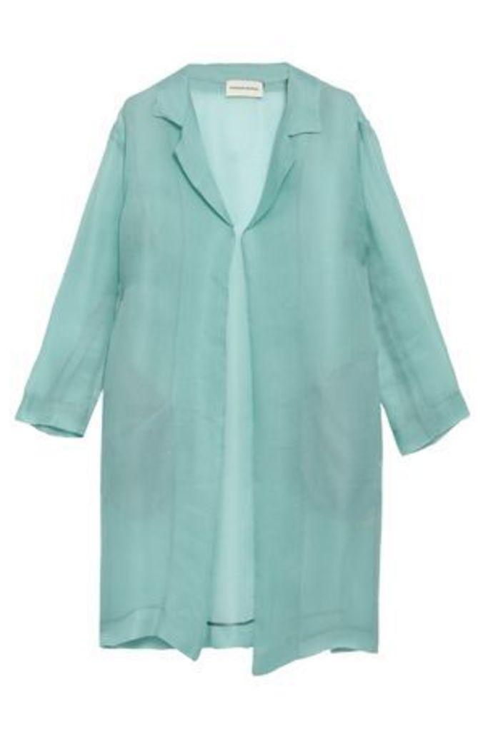 Mansur Gavriel Woman Silk-gauze Coat Sky Blue Size 40