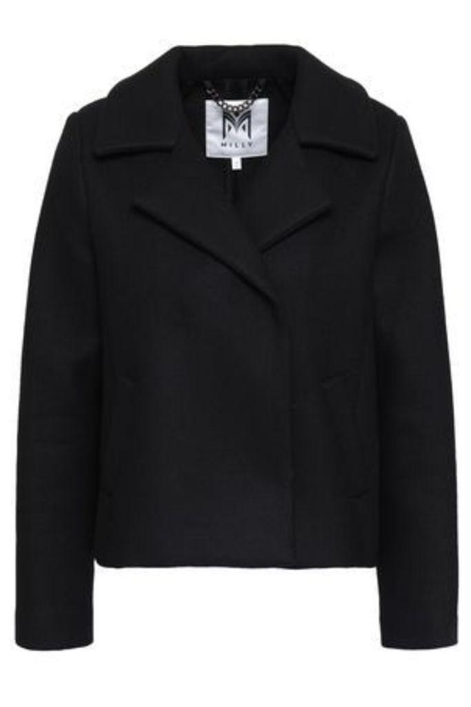 Milly Woman Felt Jacket Black Size L