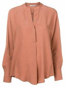 Vince mandarin collar blouse - Neutrals