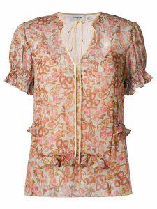 Coach floral print blouse - Green