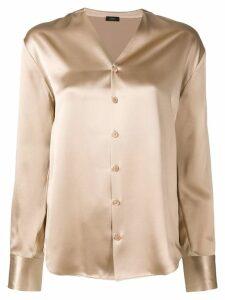 Joseph v-neck blouse - Neutrals