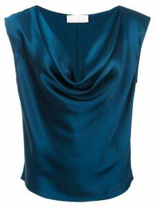 Fleur Du Mal cowl neck blouse - Blue