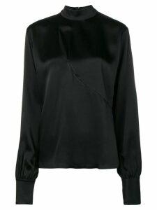 David Koma chest cut-out detail blouse - Black