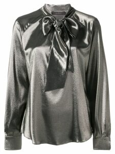 Max Mara neck-tied long sleeve blouse - Gold