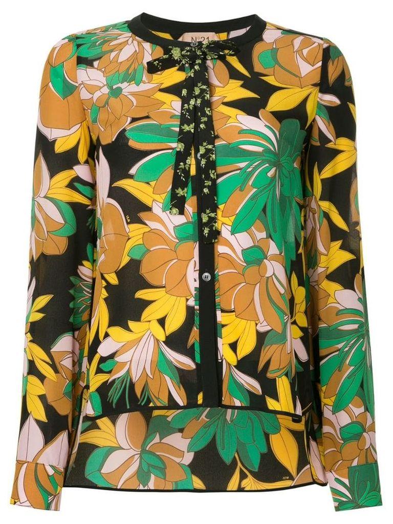 Nº21 floral tie neck blouse - Multicolour