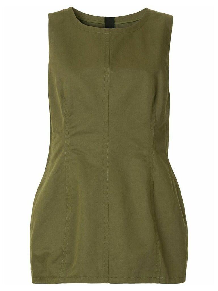 Marni sleeveless peplum blouse - Green