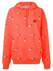 McQ Alexander McQueen shallow print hoodie - Orange