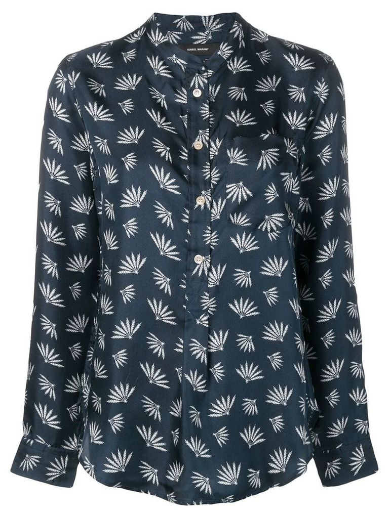 Isabel Marant Usak printed shirt - Blue