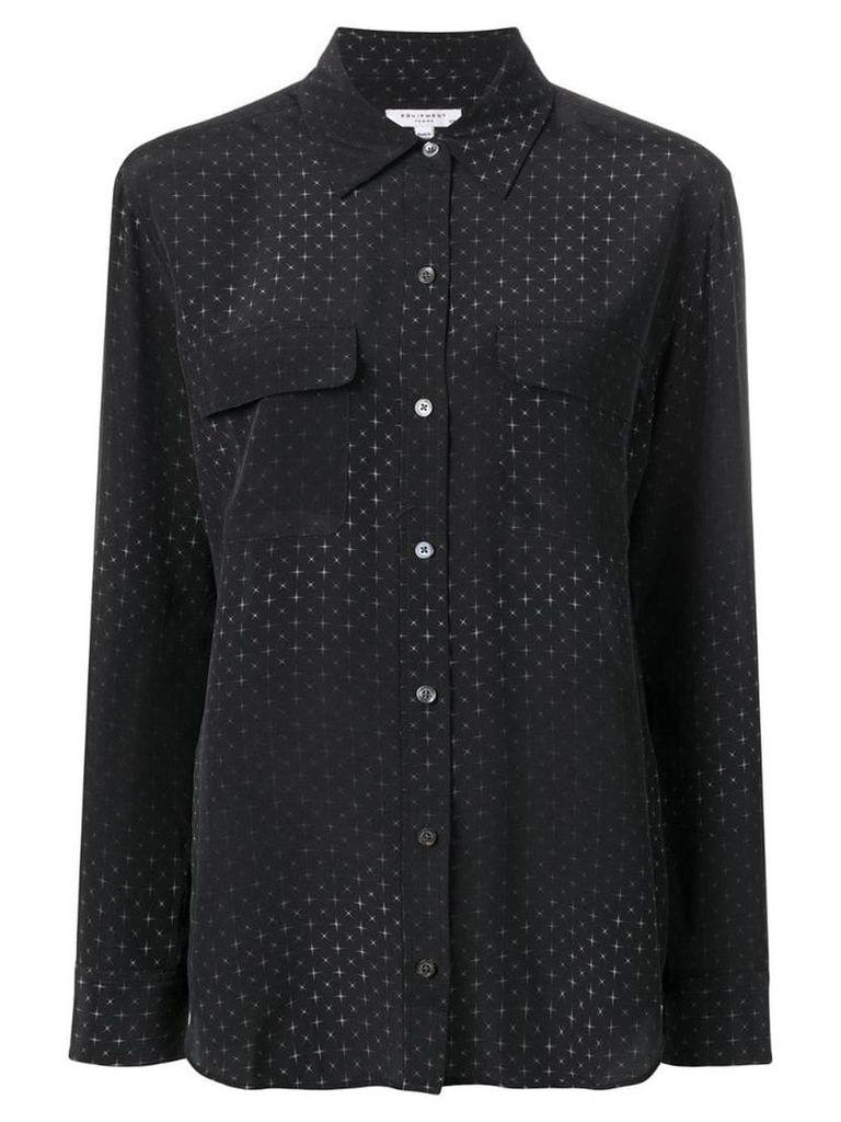Equipment sparkle print shirt - Black
