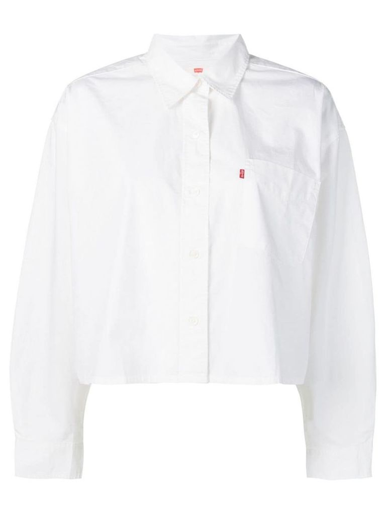 Levi's cropped chest pocket shirt - White