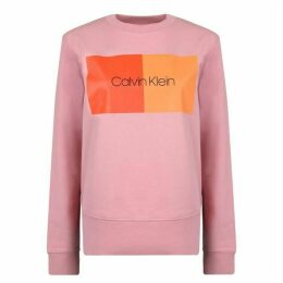 Calvin Klein Womenswear Two Tone Logo Sweatshirt