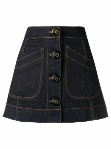 Coach denim A-line skirt - Blue