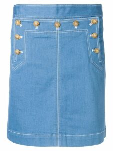 Tory Burch A-line denim skirt - Blue