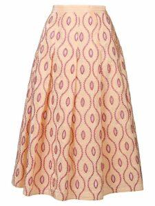 Marni embroidered pattern skirt - Yellow