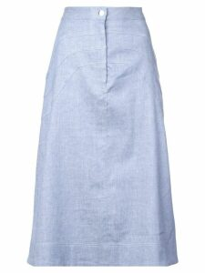 Jill Stuart plain a-line skirt - Blue