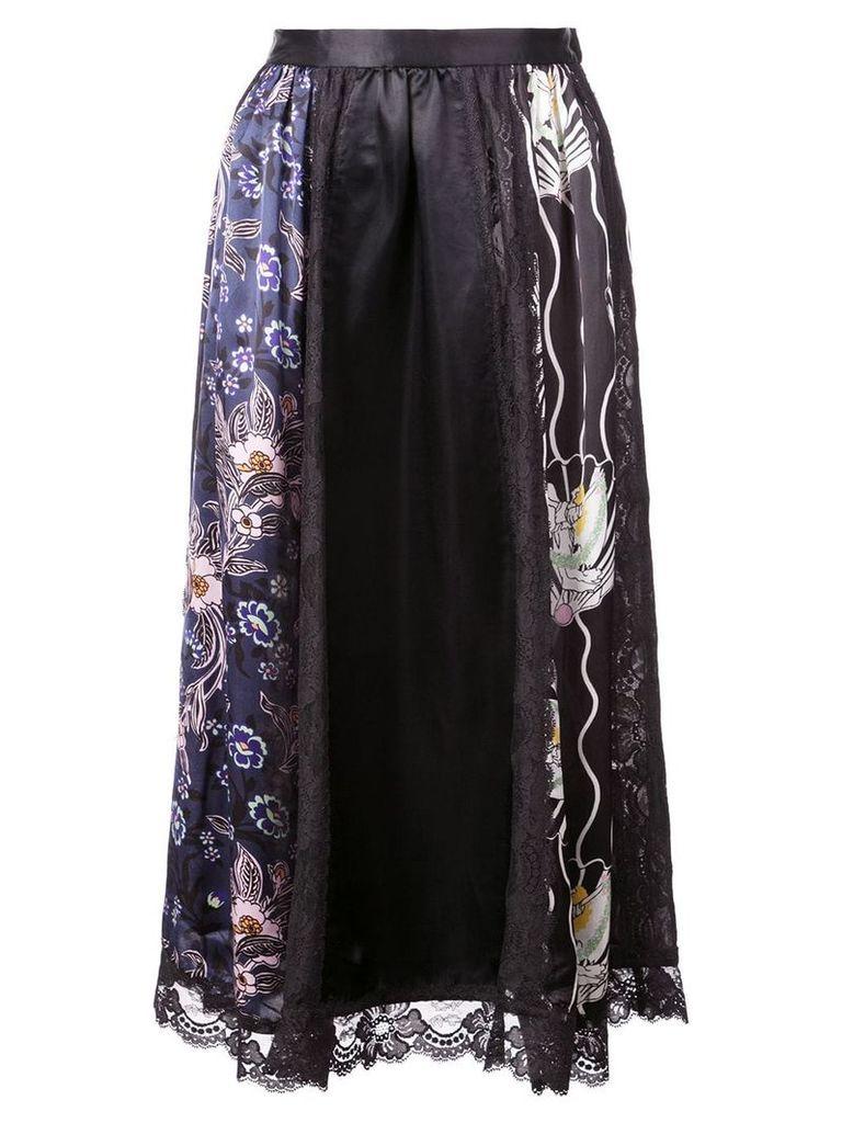 Jill Stuart floral print panels skirt - Black