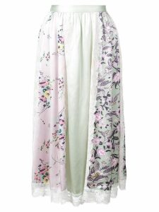 Jill Stuart floral print panel skirt - Blue