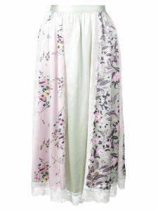 Jill Stuart floral print panel skirt - Blue