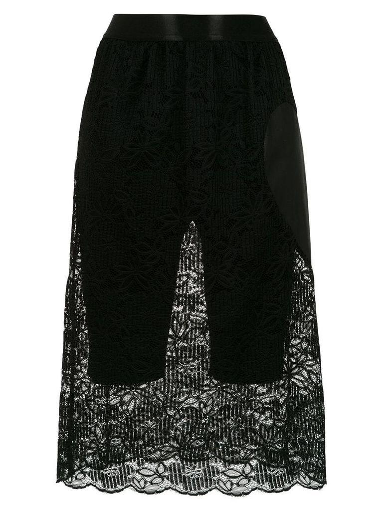 À La Garçonne Coração lace skirt - Black