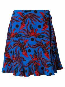 Kenzo bird print skirt - Blue
