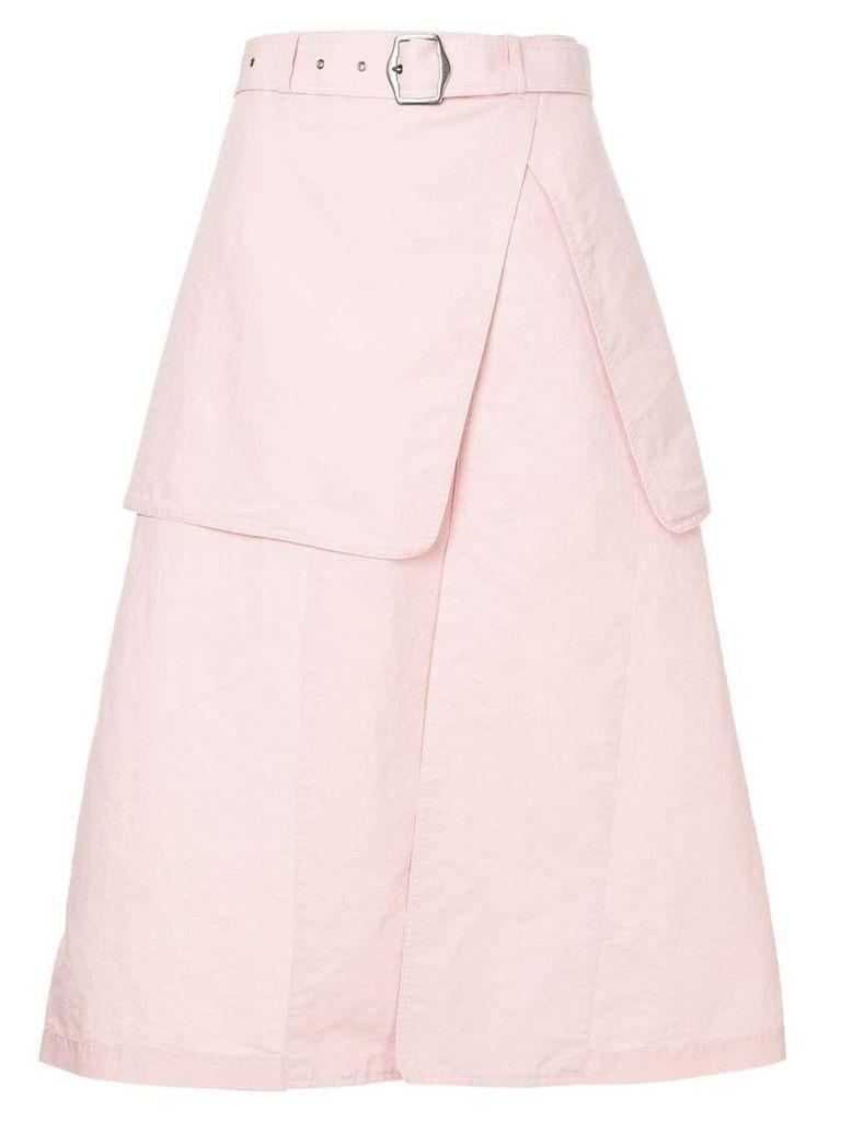 Sies Marjan belted layered skirt - Pink