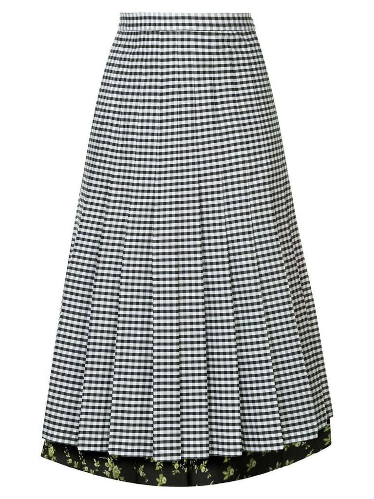 Nº21 pleated gingham skirt - Black
