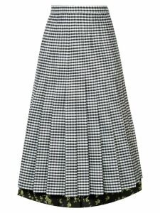 Nº21 pleated gingham skirt - Black
