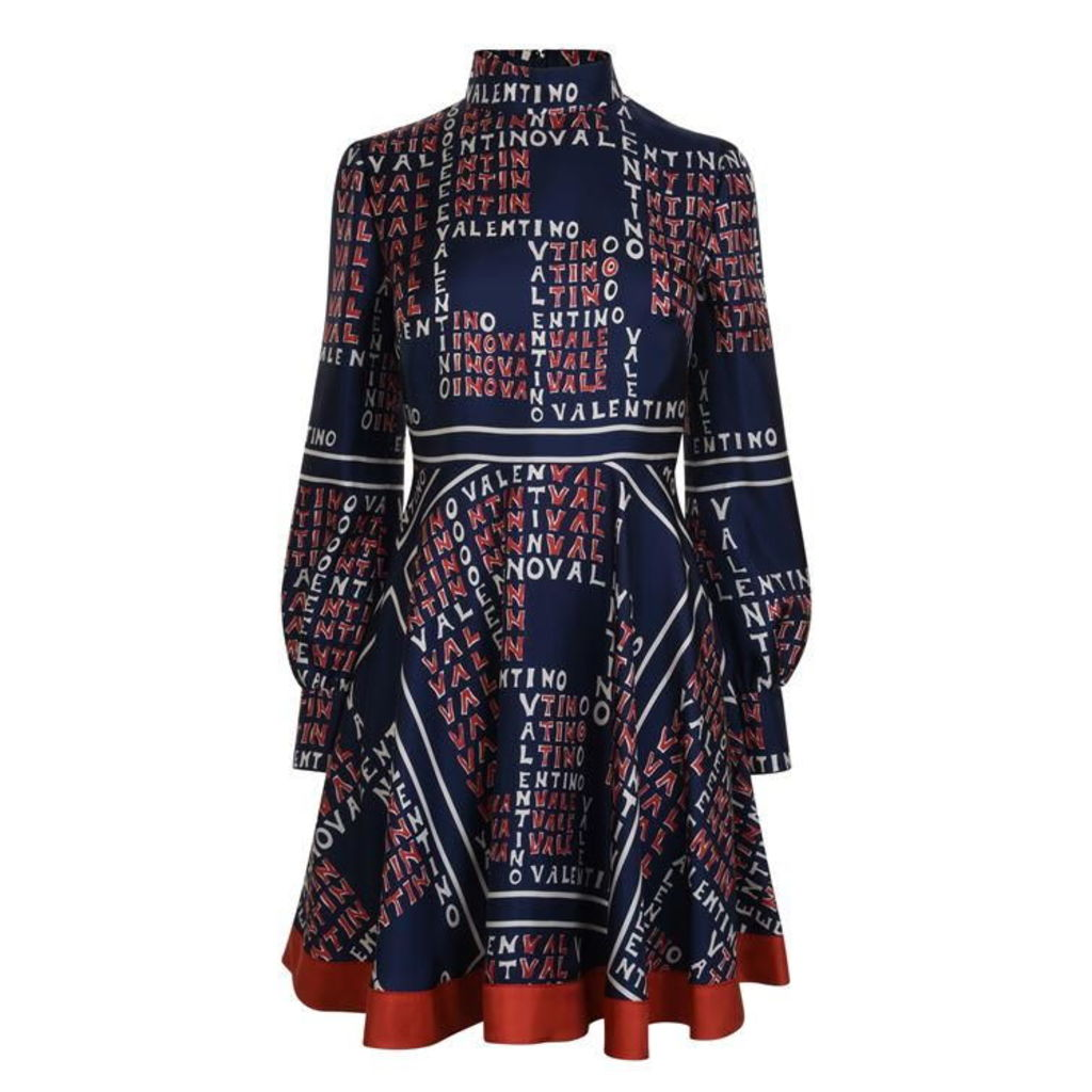 VALENTINO Puzzle Twill Dress