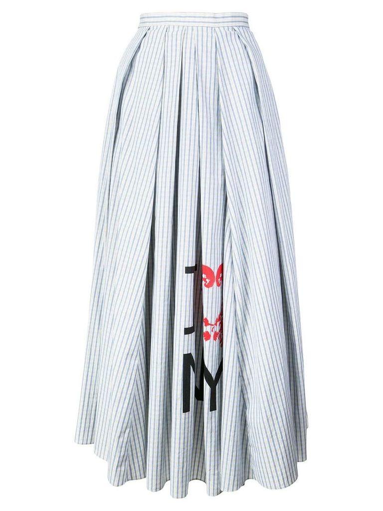 Rosie Assoulin striped flared midi skirt - Blue