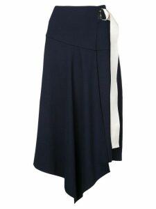 Tibi Ponte asymmetric midi skirt - Navy