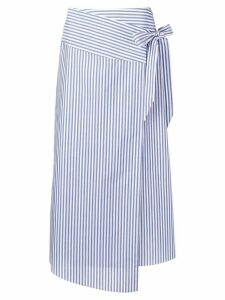 Vivetta striped poplin midi skirt - White