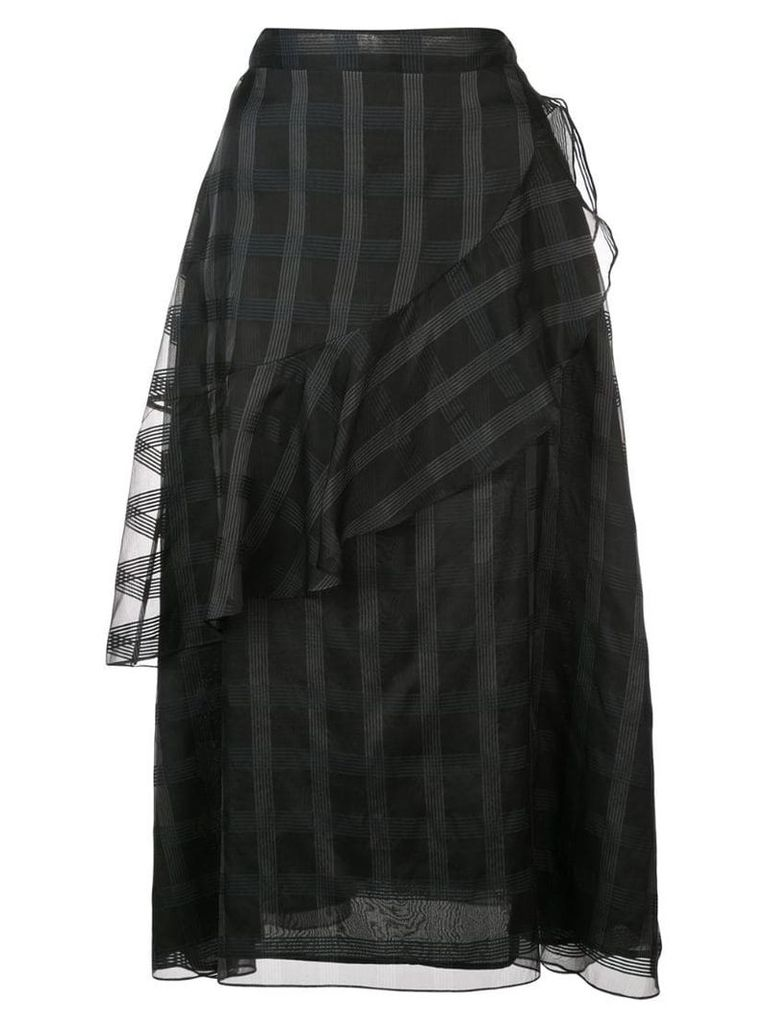 Jill Stuart patterned ruffle skirt - Black