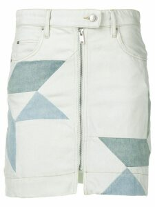 Isabel Marant Étoile Ioline patchwork denim skirt - Blue