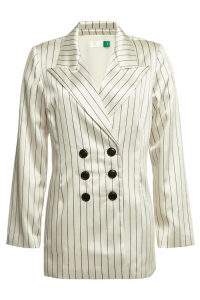 RIXO LONDON Toni Striped Satin Blazer
