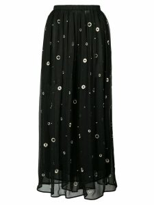 Vince metallic embroidered midi skirt - Black