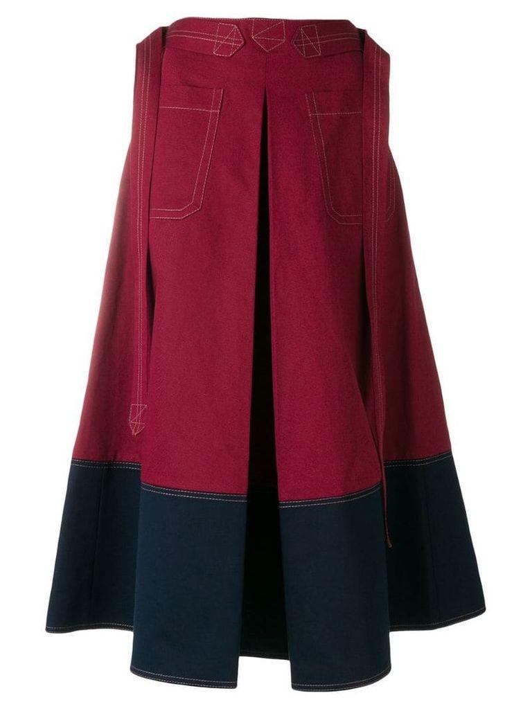 Marni A-line skirt - Red