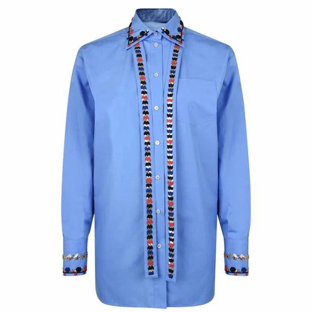 VALENTINO Embroidered Poplin Shirt