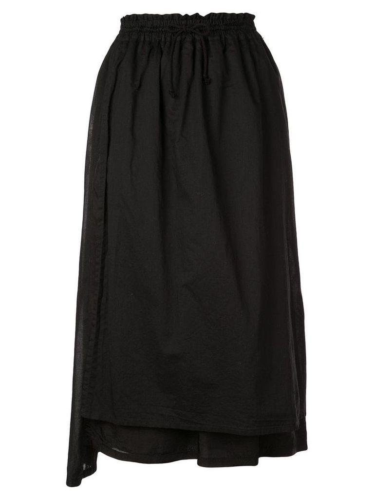 Y's drawstring midi skirt - Black