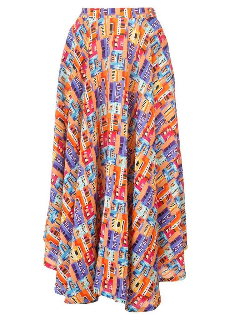 Lhd printed midi skirt - Multicolour