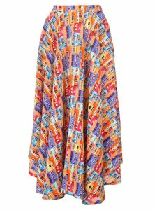 Lhd printed midi skirt - Multicolour
