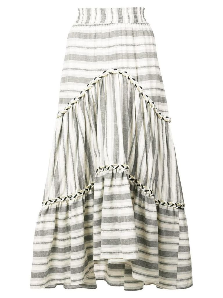 Misa Los Angeles Annalisa striped midi skirt - Grey