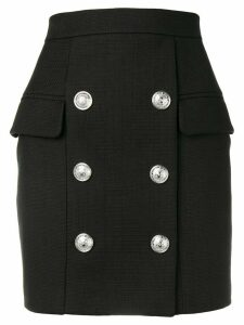 Balmain button detail skirt - Black