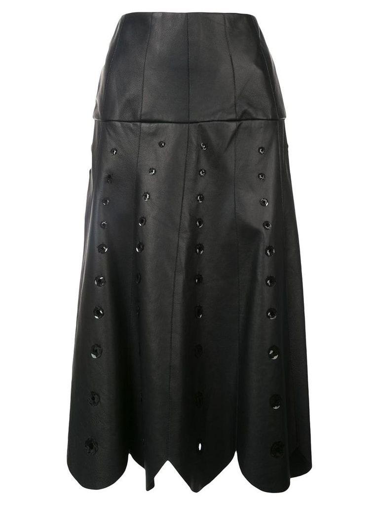 Oscar de la Renta sequin embroidered midi skirt - Black