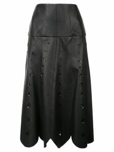 Oscar de la Renta sequin embroidered midi skirt - Black