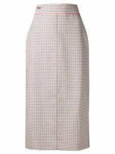 Fendi high waisted midi skirt - Neutrals