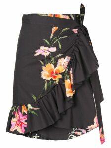 Etro floral print wrap skirt - Black